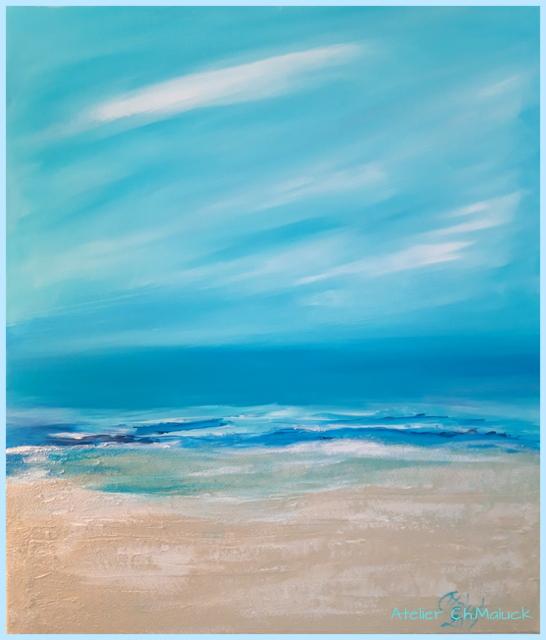 Mein gemaltes Strandbild 2019